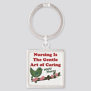 Nursing NICU Green Square Keychain