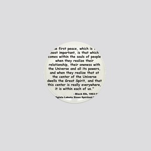 Black Elk Spirit Quote Mini Button
