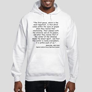 Black Elk Spirit Quote Hooded Sweatshirt