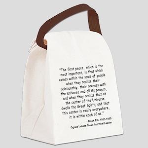 Black Elk Spirit Quote Canvas Lunch Bag