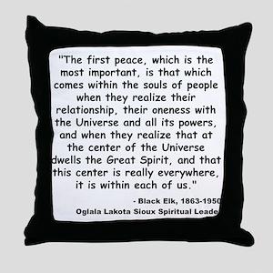 Black Elk Spirit Quote Throw Pillow