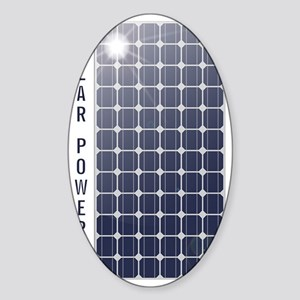 Solar Powered Solar Panel Sticker (Oval)