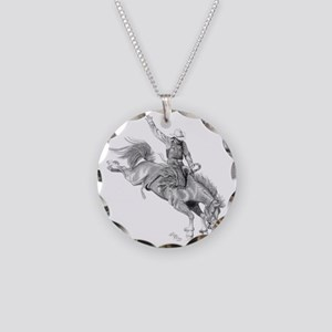 Rodeo-bull rider 005 Necklace Circle Charm