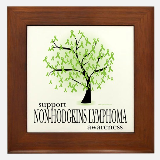Non-Hodgkins-Lymphoma-Tree Framed Tile
