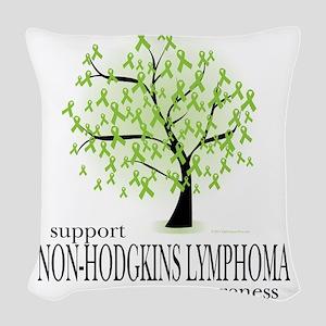 Non-Hodgkins-Lymphoma-Tree Woven Throw Pillow