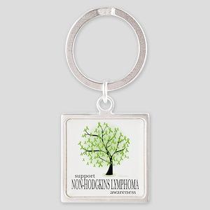 Non-Hodgkins-Lymphoma-Tree Square Keychain