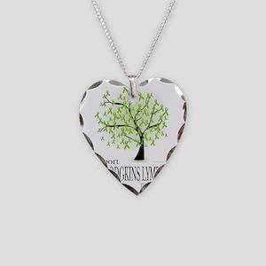 Non-Hodgkins-Lymphoma-Tree Necklace Heart Charm