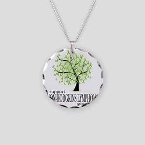 Non-Hodgkins-Lymphoma-Tree Necklace Circle Charm