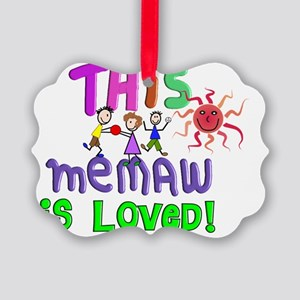 This memaw is Loved GREEN Picture Ornament