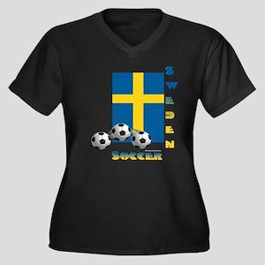 Sweden Soccer Power15 Plus Size T-Shirt