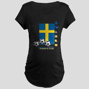 Sweden Soccer Power15 Maternity T-Shirt