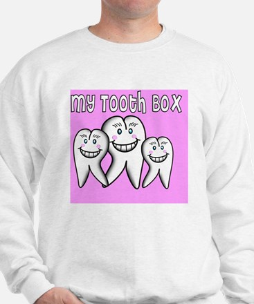 My Tooth Box Pink Sweatshirt