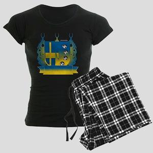 Sweden Soccer Shield3 Pajamas