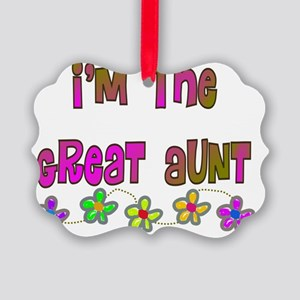 Im the Great Aunt Multi color Picture Ornament