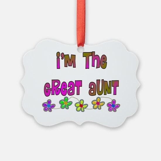 Im the Great Aunt Multi color Ornament