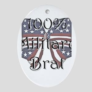 100% Military Brat Oval Ornament