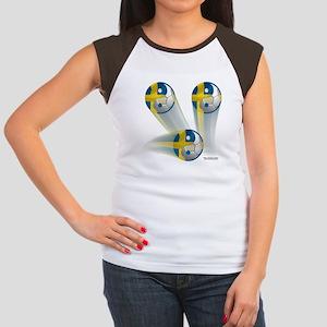 Yin Yang Sweden2 Women's Cap Sleeve T-Shirt