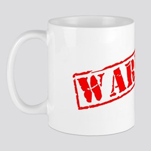 Awareness tee WARNING white Mug