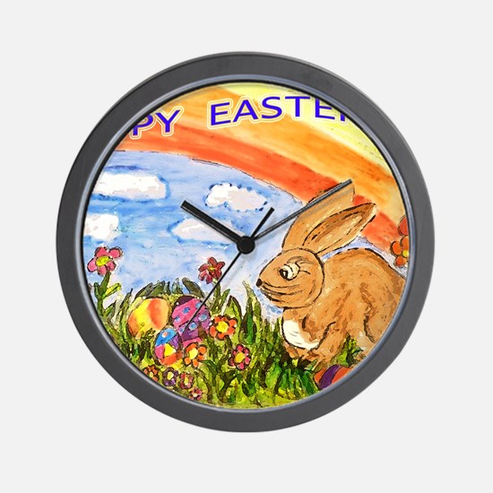 easter small print Wall Clock