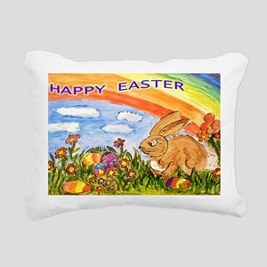 happy easter large poste Rectangular Canvas Pillow