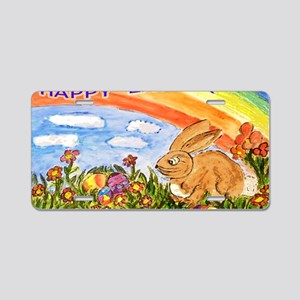 happy easter large poster Aluminum License Plate