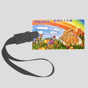 happy easter large poster Large Luggage Tag