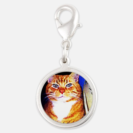 My Breed is Rescued Silver Round Charm