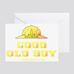 Good Old Boy A4 ZZCv using adj Testg Greeting Card