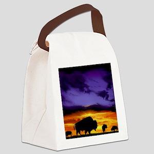 Bison mousepad Canvas Lunch Bag