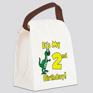 Dinosaur 2nd Birthday Canvas Lunch Bag