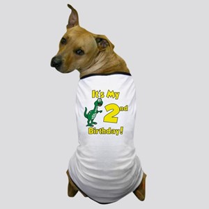 Dinosaur 2nd Birthday Dog T-Shirt