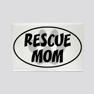 Rescue mom-white Rectangle Magnet
