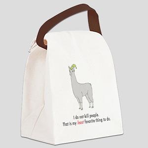 Llamas-D2-WaterBottle Canvas Lunch Bag