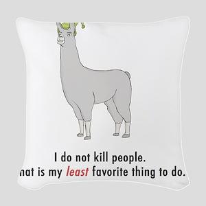 Llamas-D2-WhiteApparel Woven Throw Pillow