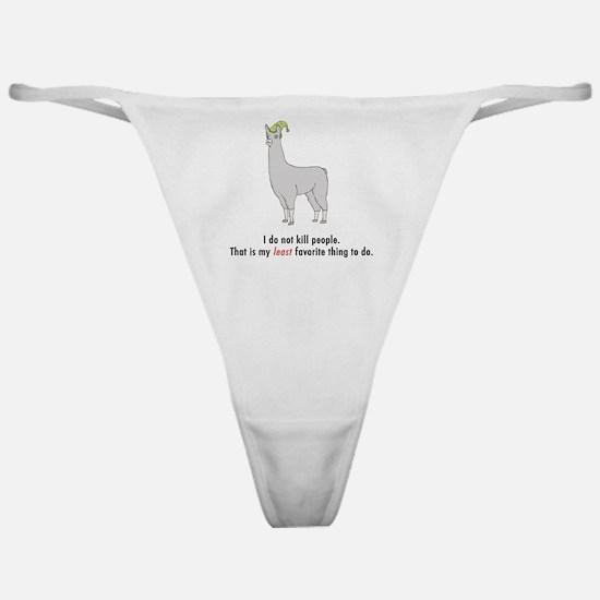 Llamas-D2-WhiteApparel Classic Thong