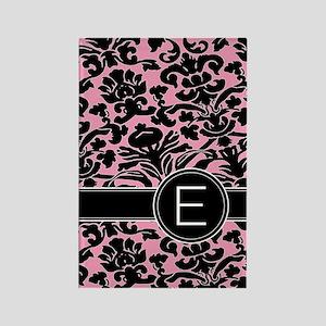 443_monogram_pink_E Rectangle Magnet