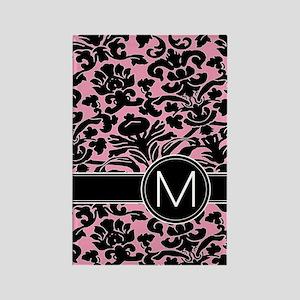 443_monogram_pink_M Rectangle Magnet