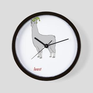 Llamas-D2-BlackApparel Wall Clock