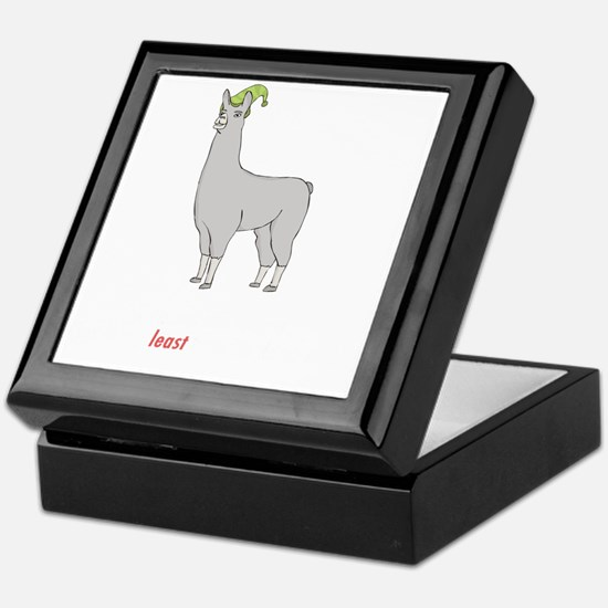 Llamas-D2-BlackApparel Keepsake Box