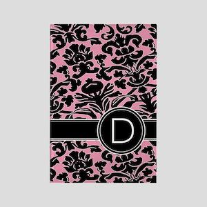 443_monogram_pink_D Rectangle Magnet