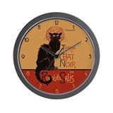 Chat noir Wall Clocks