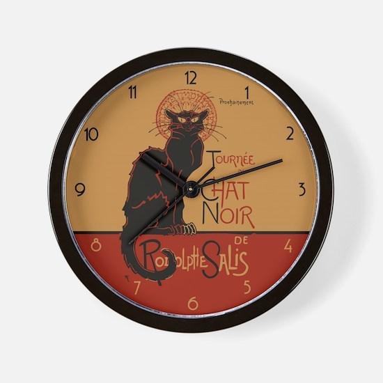 Tournée du Chat Noir Wall Clock