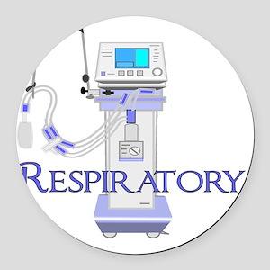 Respiratory Therapist 2011 BLUE V Round Car Magnet