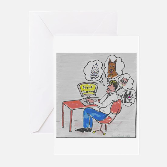 Passwords Greeting Cards (Pk of 10)
