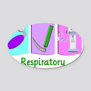 Jody Respiratory 2 Oval Car Magnet