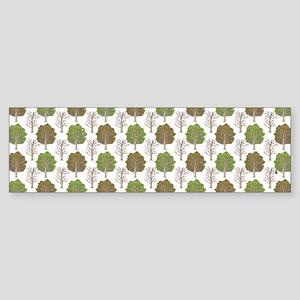ArgyleTrees02mug Sticker (Bumper)