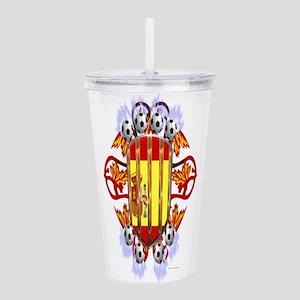 Spain Electrified Soccer Acrylic Double-wall Tumbl