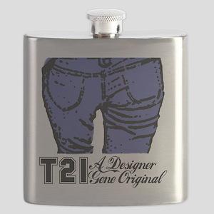 Awareness tee designer genes Flask