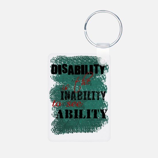 Awareness tee disability i Aluminum Photo Keychain
