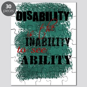 Awareness tee disability is copy Puzzle